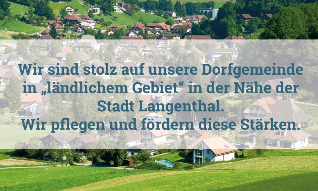 Region Oberaargau Gebiete Gemeinde Melchnau