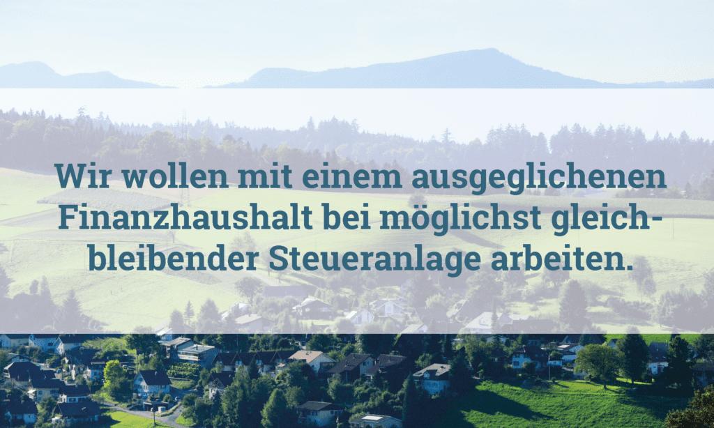 ein ausgeglichener Finanzhaushalt Gemeinde Melchnau