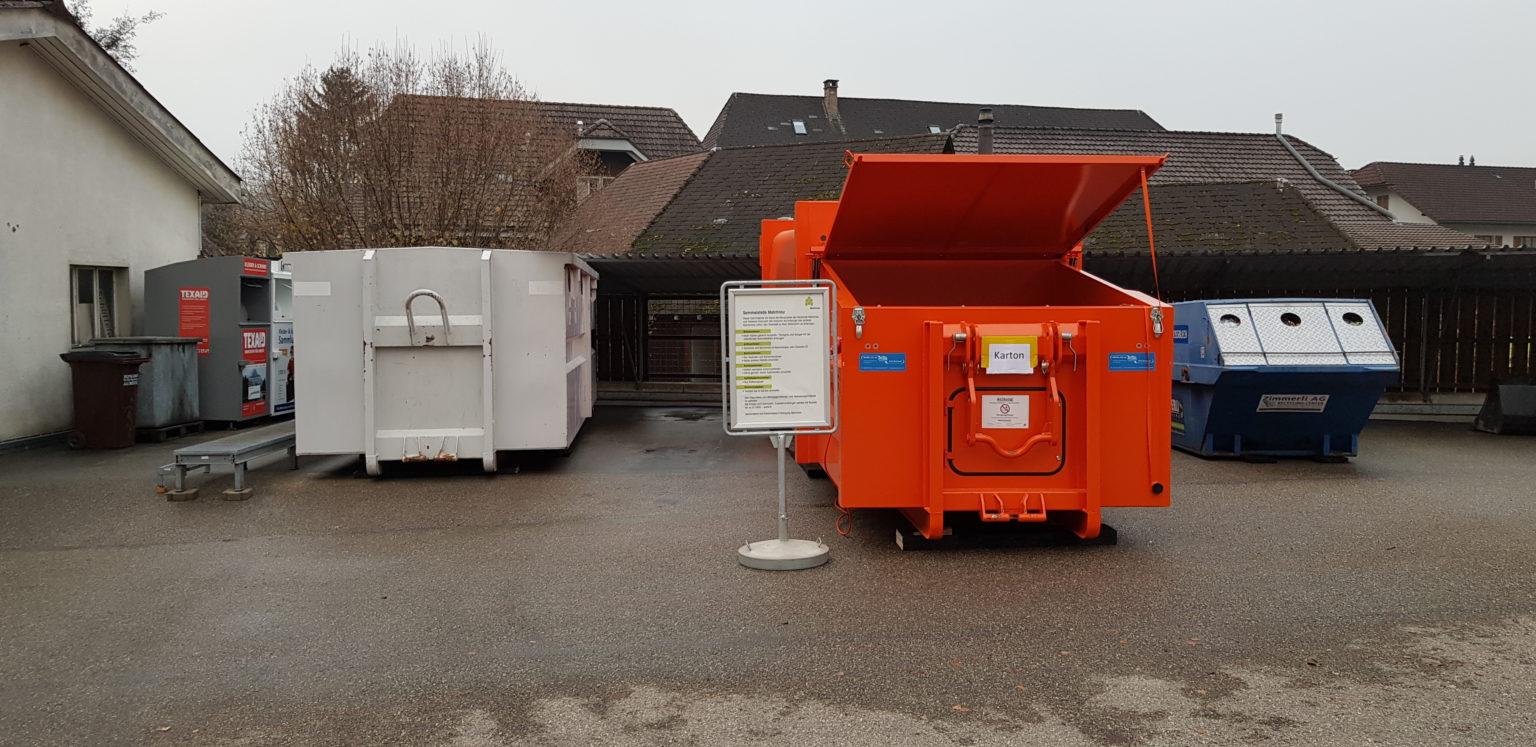 Der neue Press-Container ist da! Gemeinde Melchnau